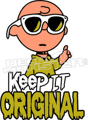 Keep it Original Charlie Brown Decal Sticker