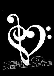 Music Heart Decal Sticker