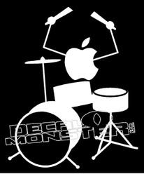 Apple Music Drummer Decal Sticker