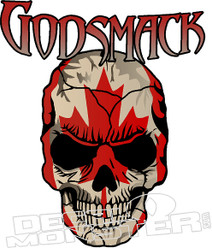 Godsmack Skull Decal Sticker