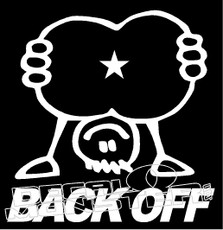 Back Off 1 Decal Sticker