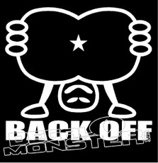 Back Off 2 Decal Sticker