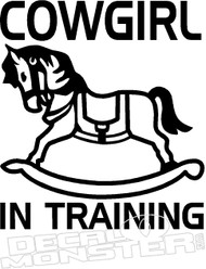 Cowgirl in Training Decal Sticker