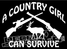 A Country Girl Can Survive Decal Sticker