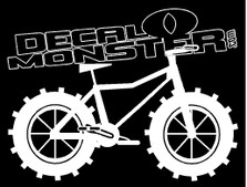 Fat Tire Mountain Bike Decal Sticker
