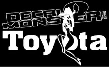 Toyota Cowgirl Decal Sticker