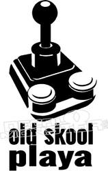 Old Skool Gamer Playa Decal Sticker