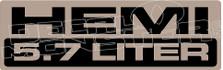 HEMI 5.7 liter decal sticker