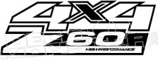 Z60 4x4 High Performance Decal Sticker