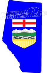Alberta Strong Crest Decal Sticker