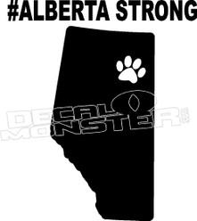 Alberta Strong Pet Edition Decal Sticker