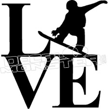 Love Snowboarding 1 Decal Sticker