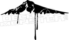 Dripping Mountain Silhouette Decal Sticker