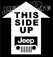 This Side Up Jeep Decal Sticker