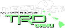 TRD Oahu Island Edition 2 Decal Sticker