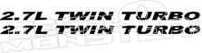 2.7l twin turbo decal sticker