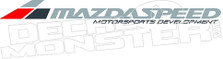 MazdaSpeed Motorsports Development Decal Sticker