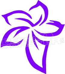 Plumeria Aloha Flower Silhouette 1 Decal Sticker