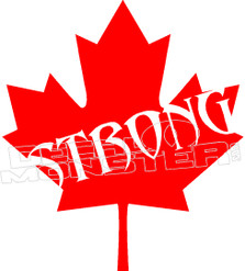 Canada Strong Canadian Leaf 2 Decal Sticker