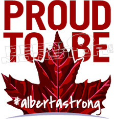 #AlbertaStrong 5 Canadian Leaf Decal Sticker