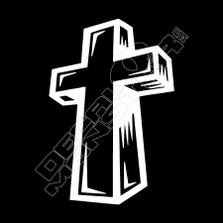 3D cross Religion Decal Sticker