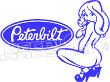 Peterbilt Semi Hot Girl Truck Decal Sticker