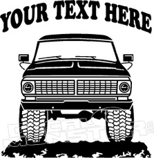 Your Text Here Ford Retro Truck Decal Sticker