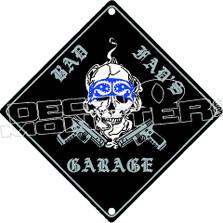 Rad Dad Garage Decal Sticker