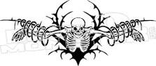 Skeleton Tribal Silhouette Decal Sticker
