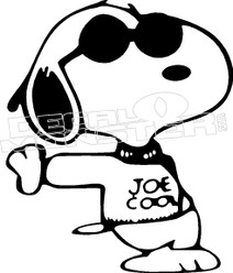 Snoopy Joe Cool Decal Sticker