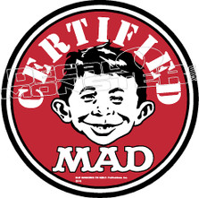 Mad Certified Decal Sticker