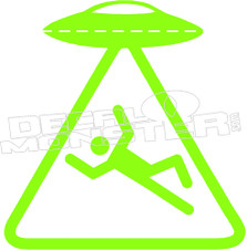 UFO Zone Decal Sticker