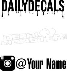 Social Media Instagram Decal Sticker