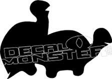 Turtle Silhouette Funny Decal Sticker