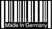 Made in Germany Barcode Decal Sticker