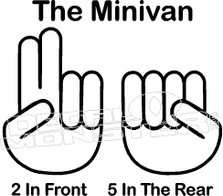 The Minivan Shocker JDM Decal Sticker