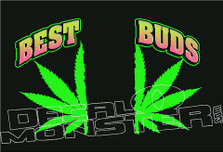 Best Buds Weed Decal Sticker