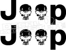 Jeep Skulls Decal Sticker