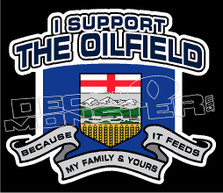 I Support the Oilfield Decal Sticker