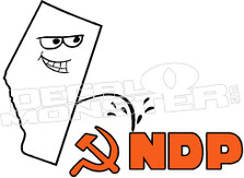 Alberta Pee on NDP Decal Sticker
