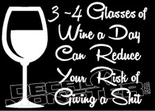 Drink Glasses of Wine Decal Sticker