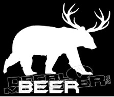 Beer Bear Decal Sticker