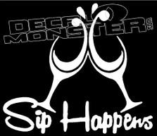 Sip Happens Drink Decal Sticker