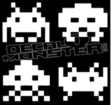 Space Invaders Retro Game Guy Stuff Decal Sticker