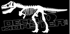 T-Rex Skeleton Silhouette Guy Stuff Decal Sticker