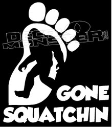 Gone Squatchin Guy Stuff Decal Sticker