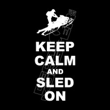 Keep Calm and Sled On Decal Sticker