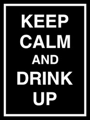 Keep Calm and Drink Up Decal Sticker
