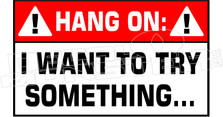 Hang On Want to Try Something Funny Decal Sticker