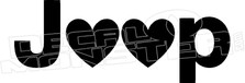 Jeep Hearts Decal Sticker